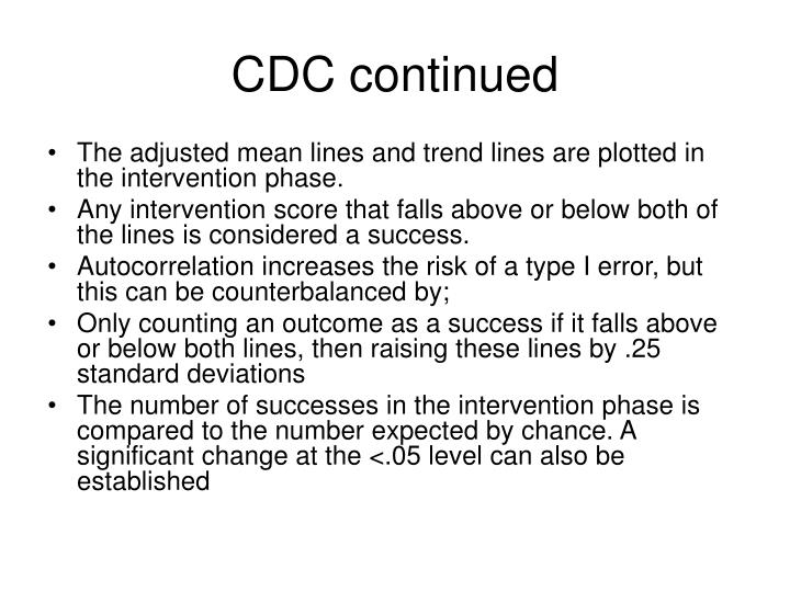 CDC continued