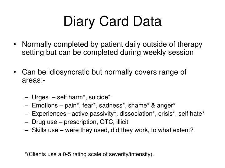 Diary Card Data