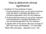 how to determine clinical significance