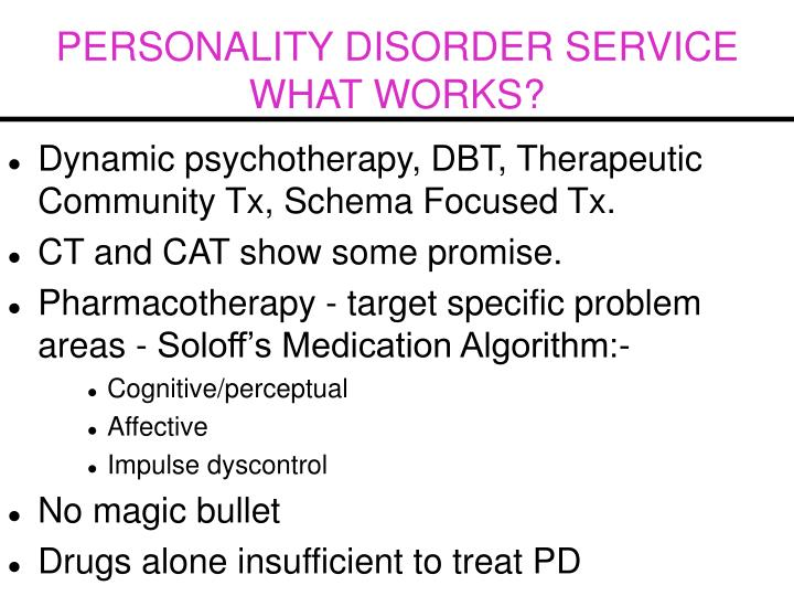 PERSONALITY DISORDER SERVICE