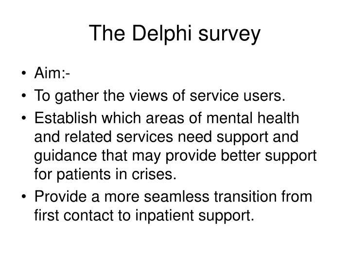 The Delphi survey