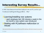 interesting survey results