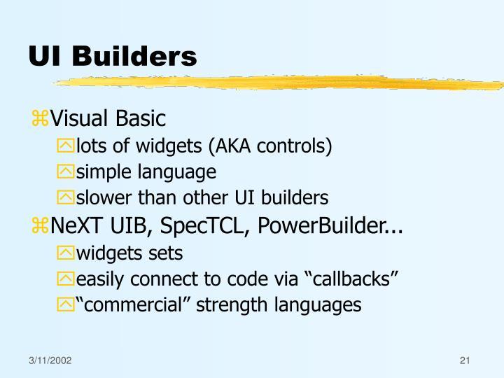 UI Builders