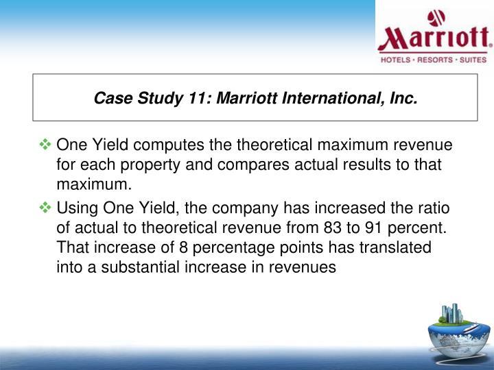 Case Study 11: Marriott International, Inc.
