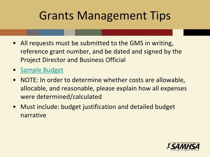 Grants Management Tips