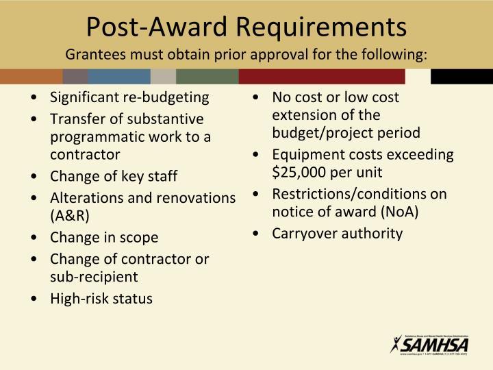 Post-Award Requirements