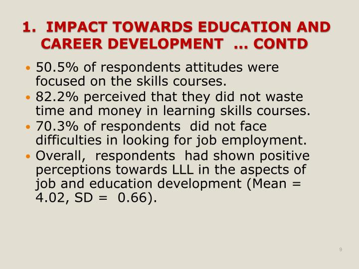 50.5% of respondents attitudes were focused on the skills courses.