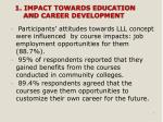 1 impact towards education and career development