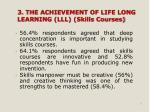 3 the achievement of life long learning lll skills courses