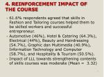 4 reinforcement impact of the course