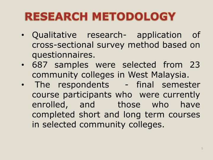 Qualitative research- application of cross-sectional survey method based on questionnaires.