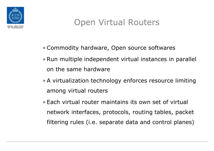 Open Virtual Routers
