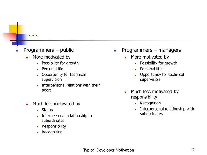 Programmers – public