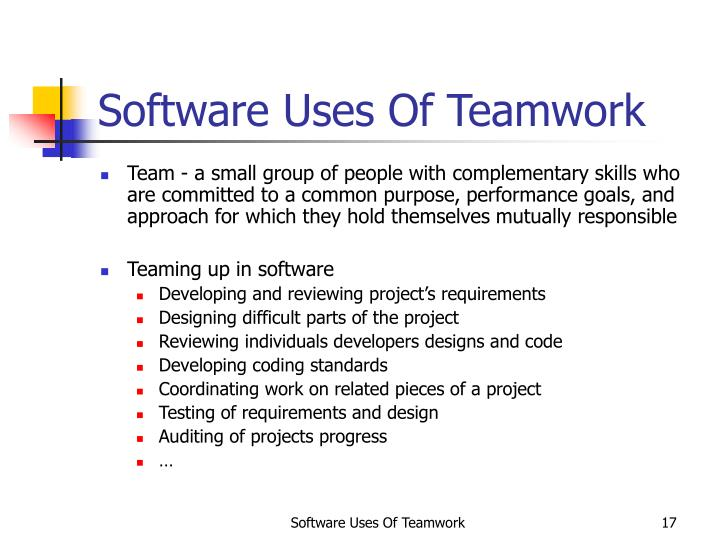 Software Uses Of Teamwork