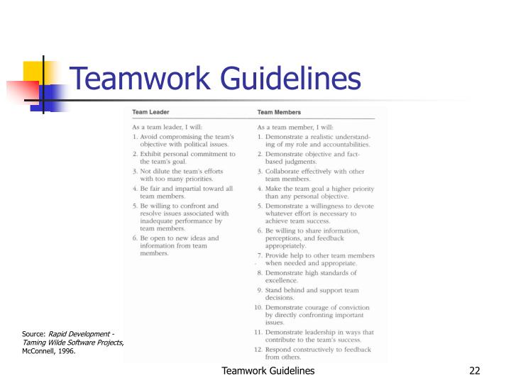 Teamwork Guidelines