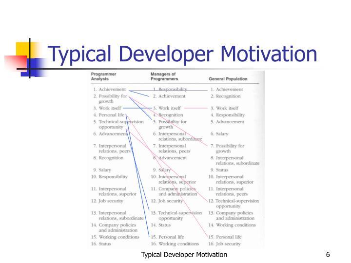 Typical Developer Motivation