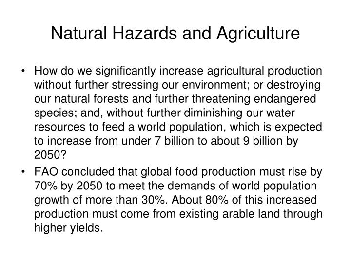 Natural hazards and agriculture2