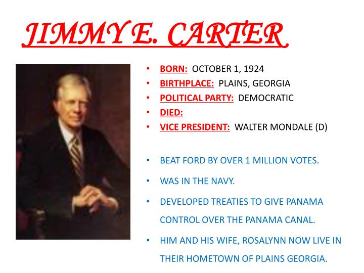 JIMMY E. CARTER
