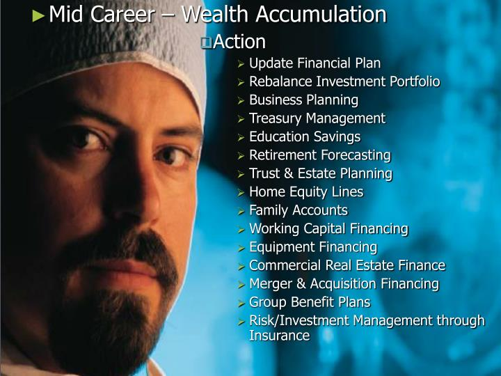 Mid Career – Wealth Accumulation