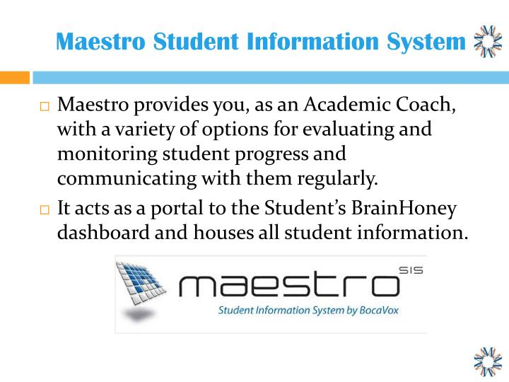 Maestro Student Information System