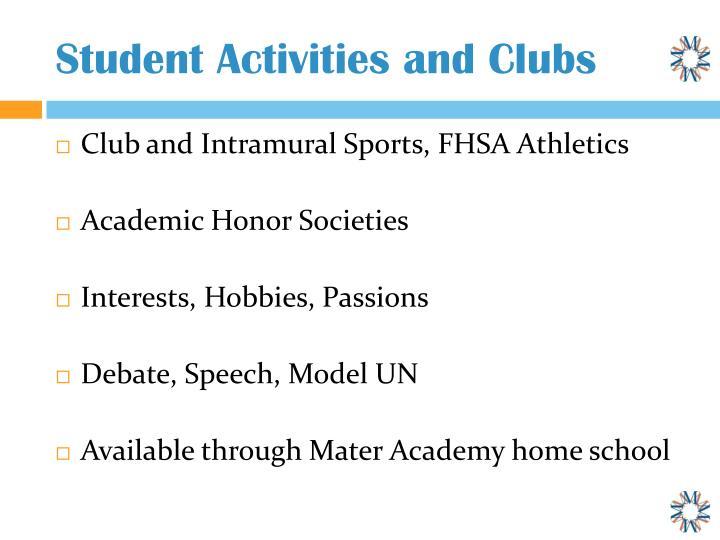 Student Activities and Clubs