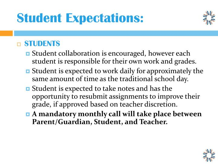 Student Expectations: