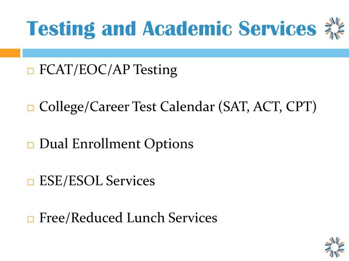 Testing and Academic Services