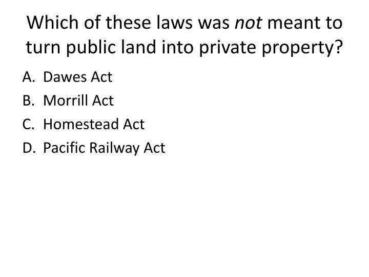 Which of these laws was