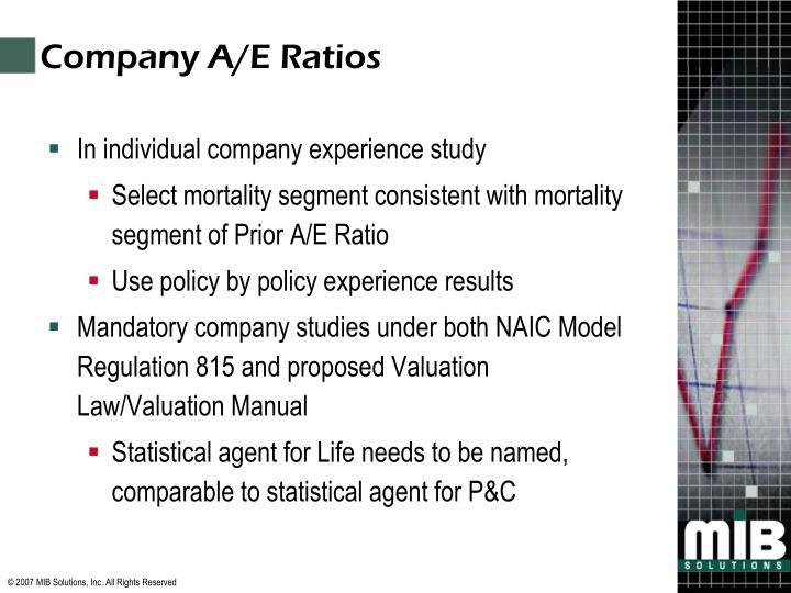 Company A/E Ratios