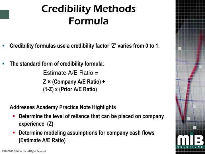 Credibility Methods