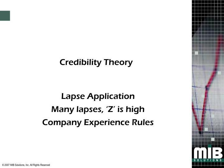 Credibility Theory