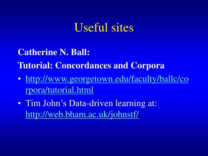 Useful sites