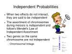 independent probabilities