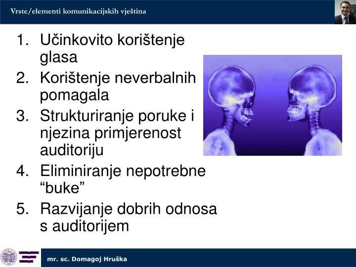 Vrste/elementi komunikacijskih vještina