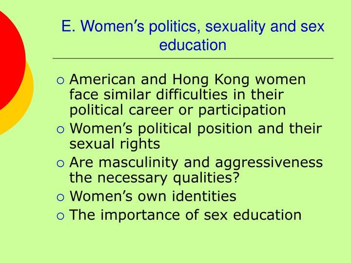 E. Women