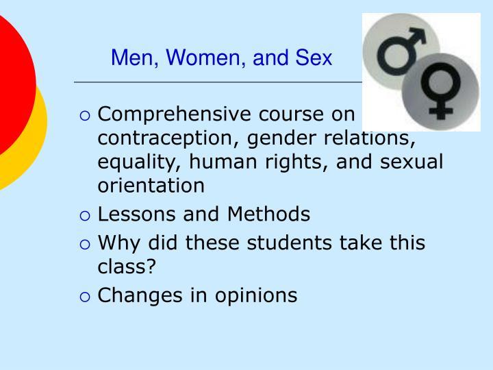 Men, Women, and Sex