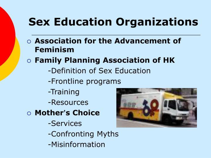 Sex Education Organizations