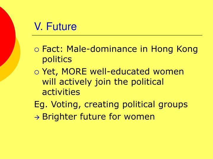 V. Future