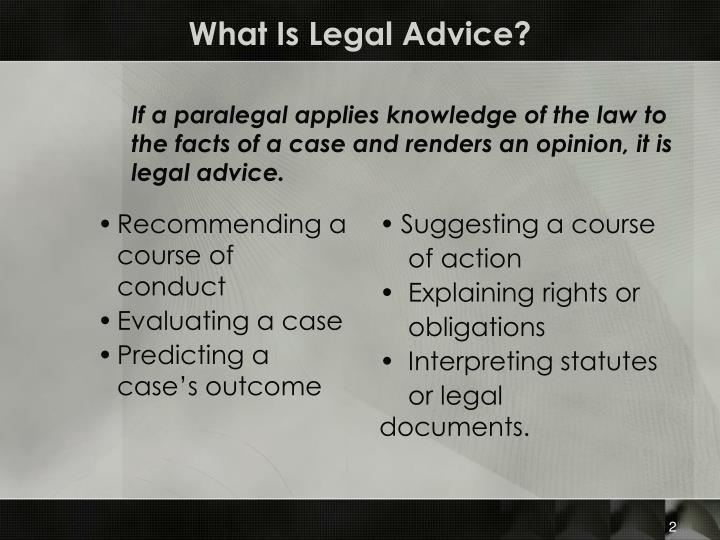 What is legal advice