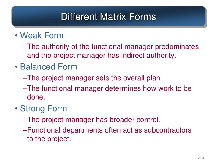 Different Matrix Forms