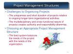 project management structures