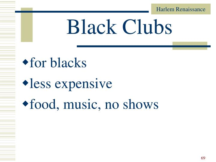 Black Clubs
