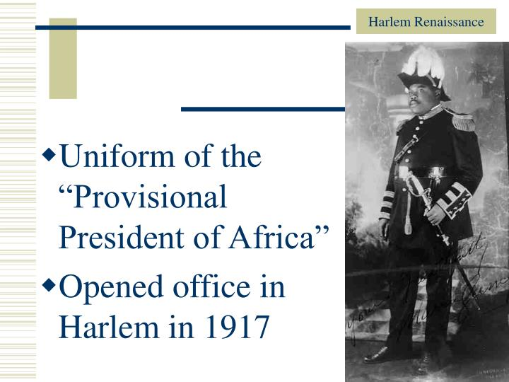 """Uniform of the """"Provisional President of Africa"""""""