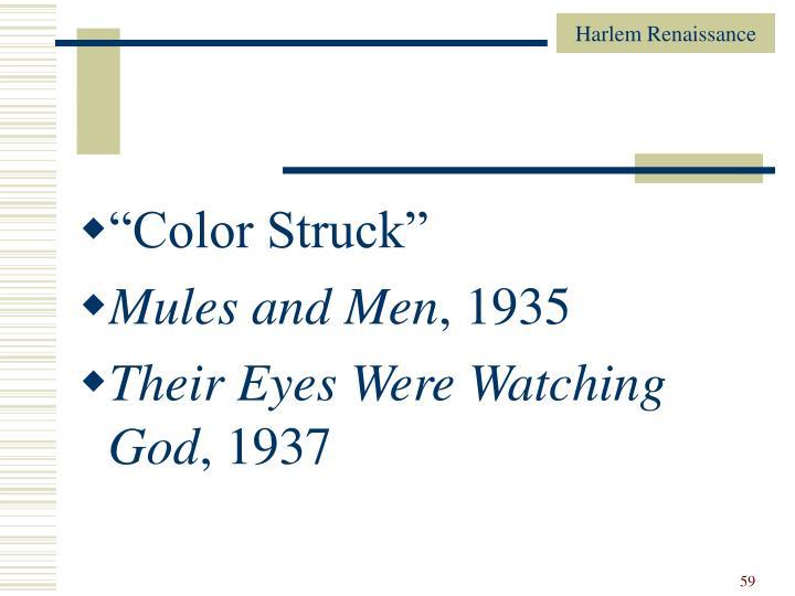 """Color Struck"""