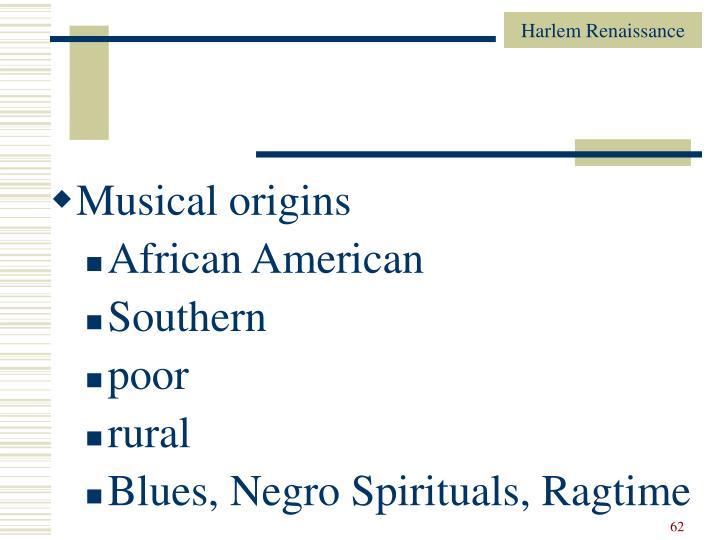 Musical origins