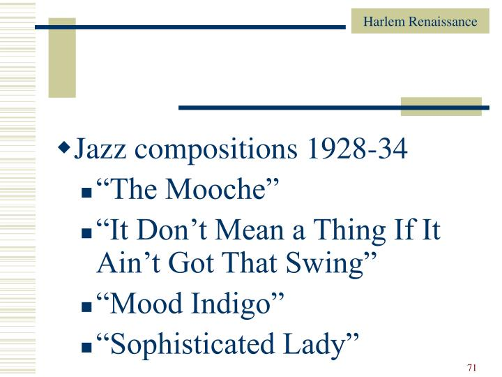 Jazz compositions 1928-34