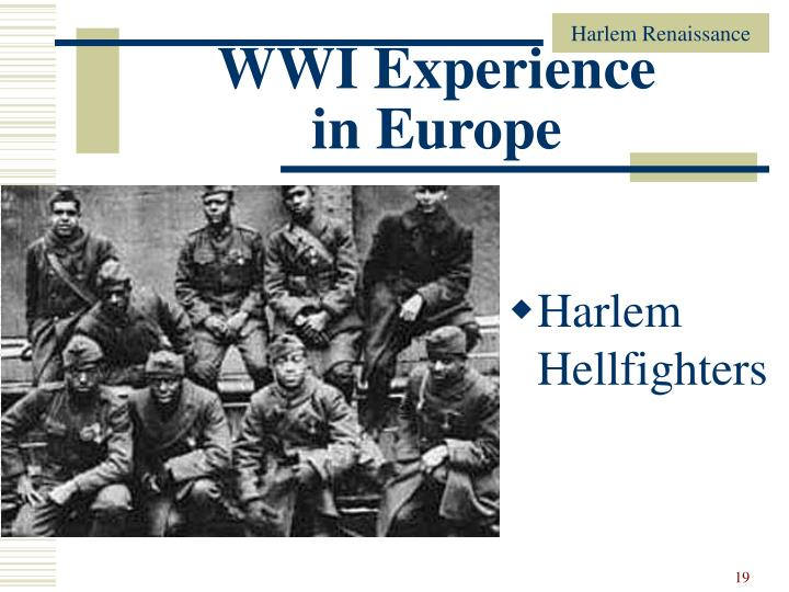 WWI Experience