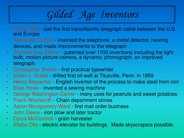 Gilded   Age  Inventors