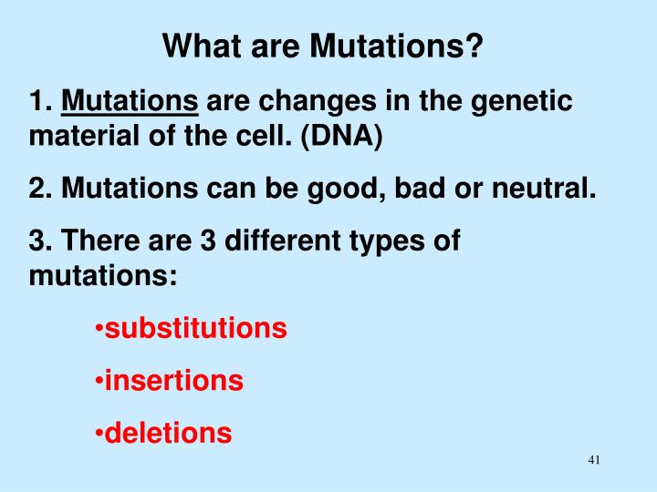 What are Mutations?