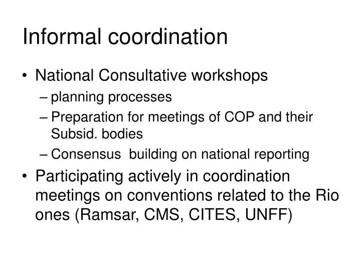 Informal coordination